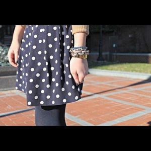 Jcrew polka dot pleated skirt sz 12